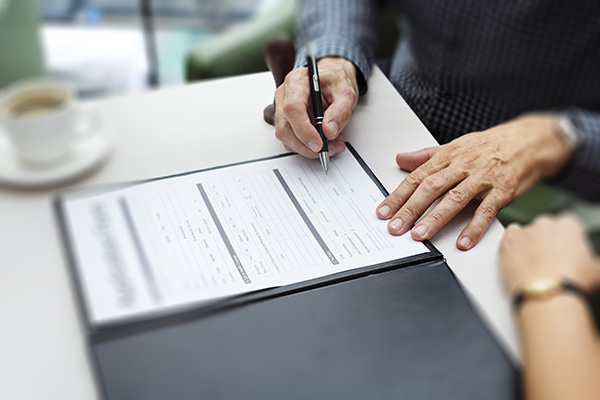 Business Contract Documents Sign Signature  Concept